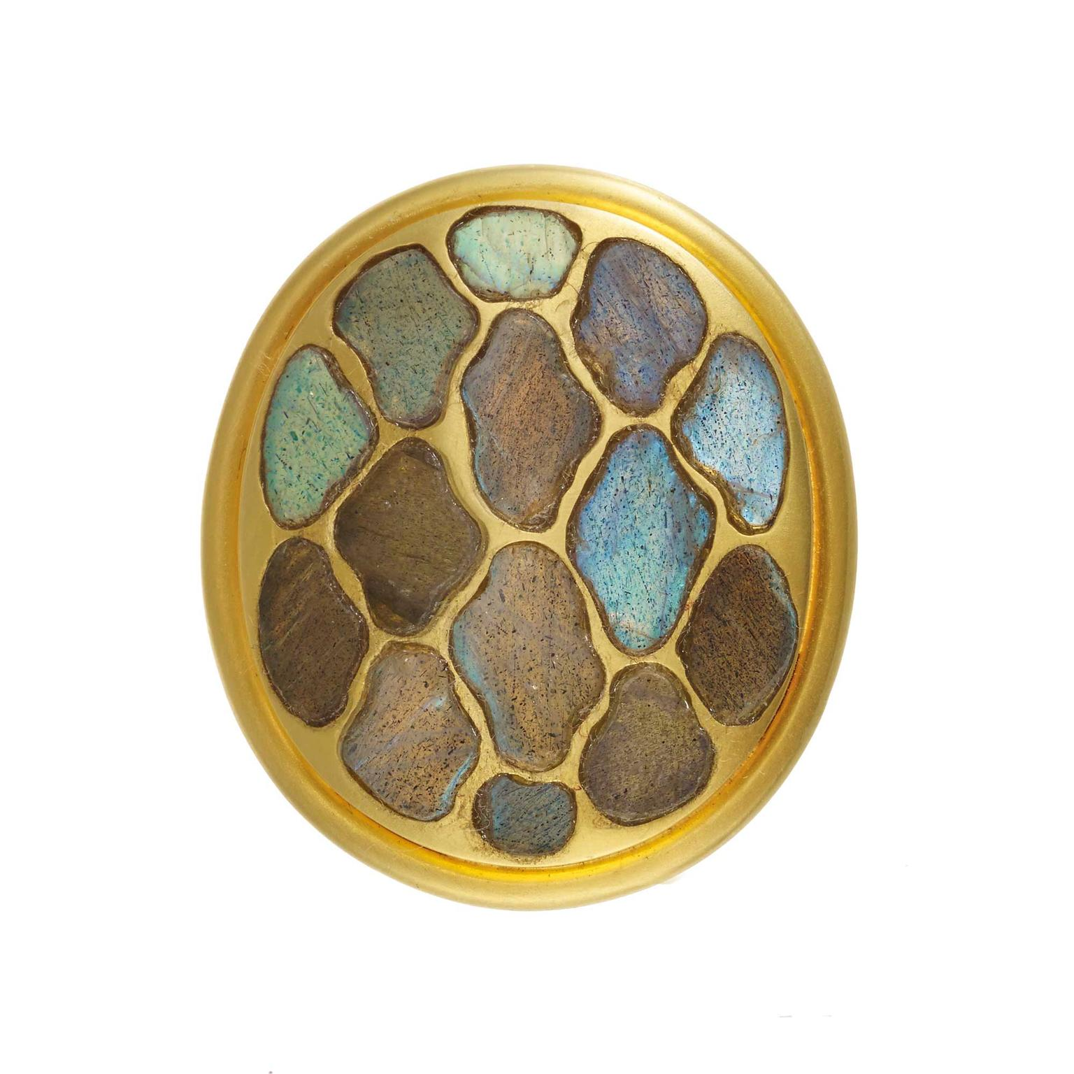 Pippa Small labradorite Lattice ring