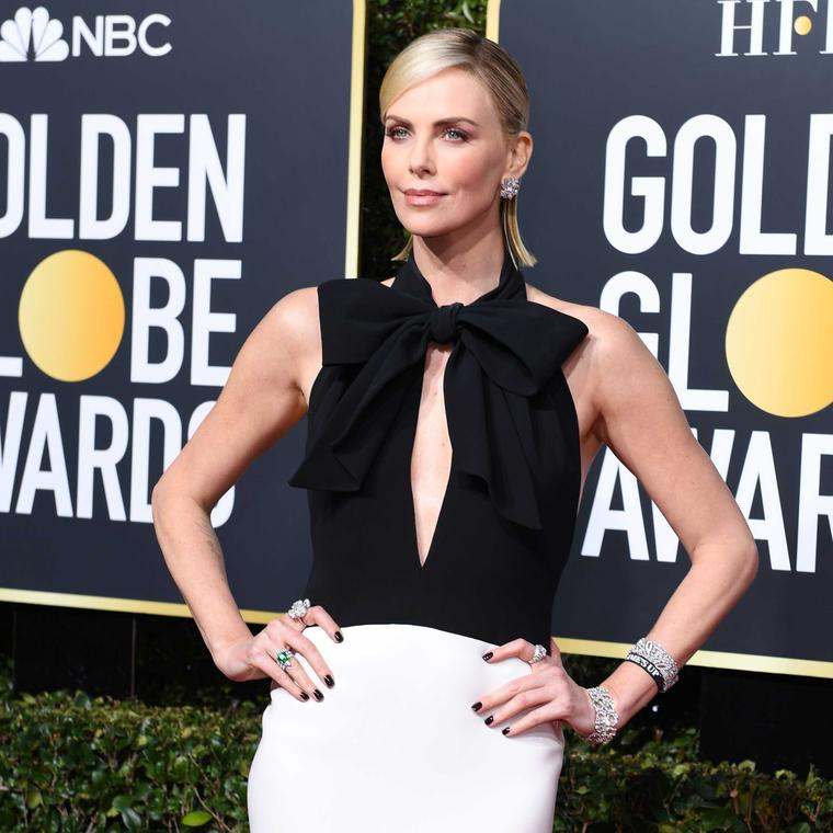 Charlize Theron Bulgari jewels Golden Globes 2019