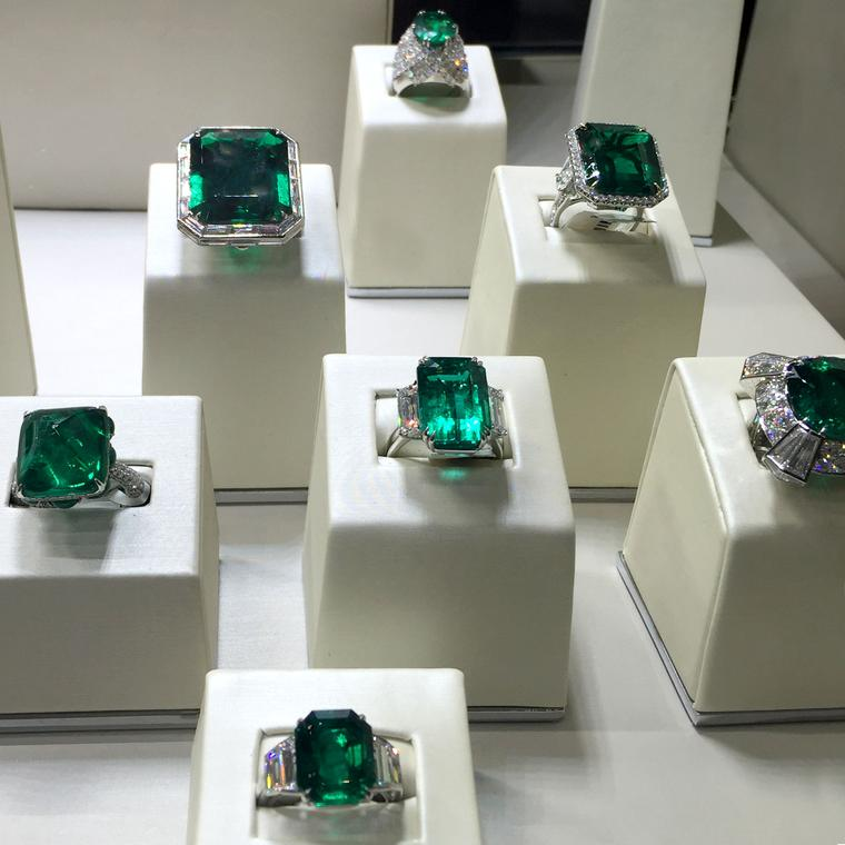 Jacob & Co emerald rings at Baselworld