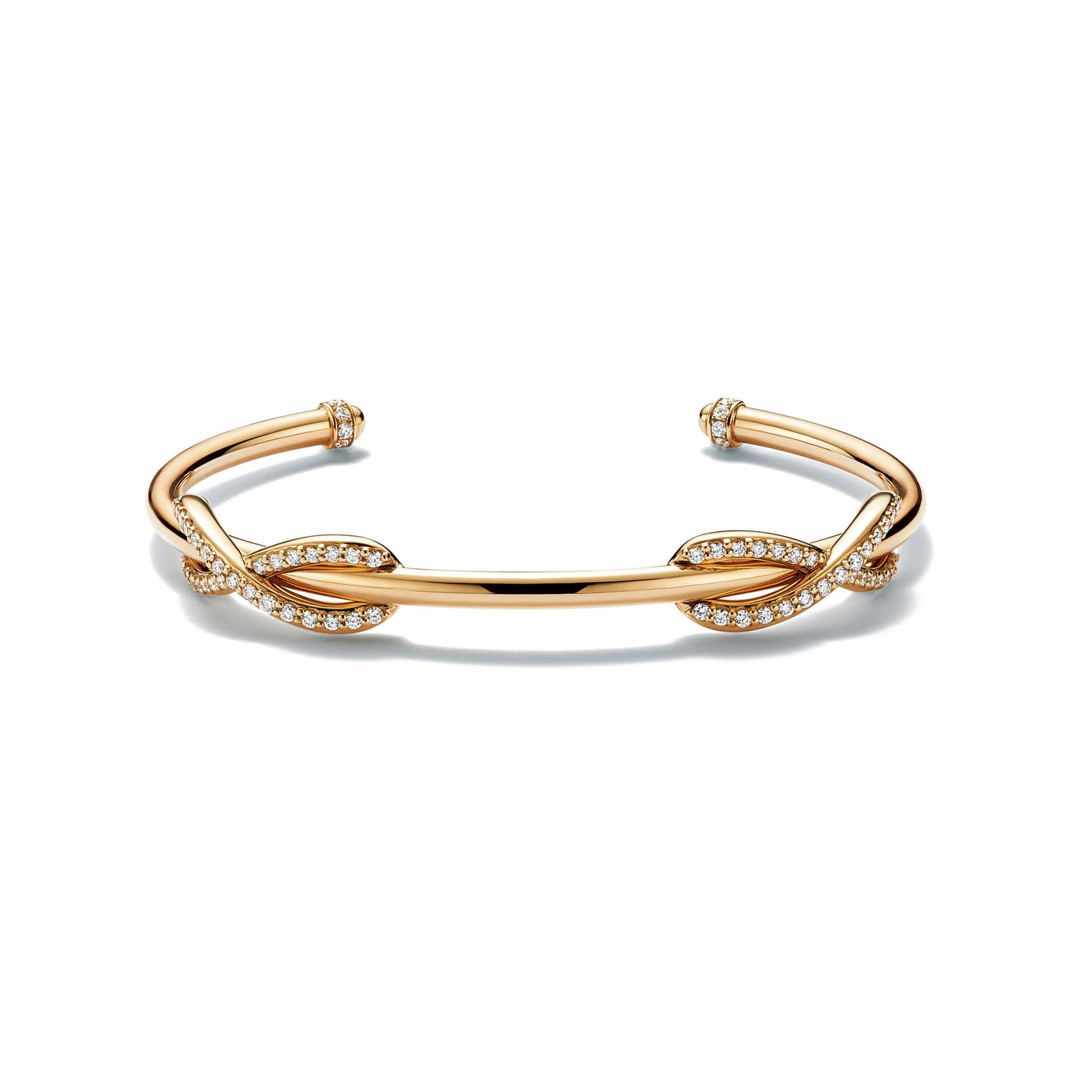Tiffany Infinity cuff in yellow gold