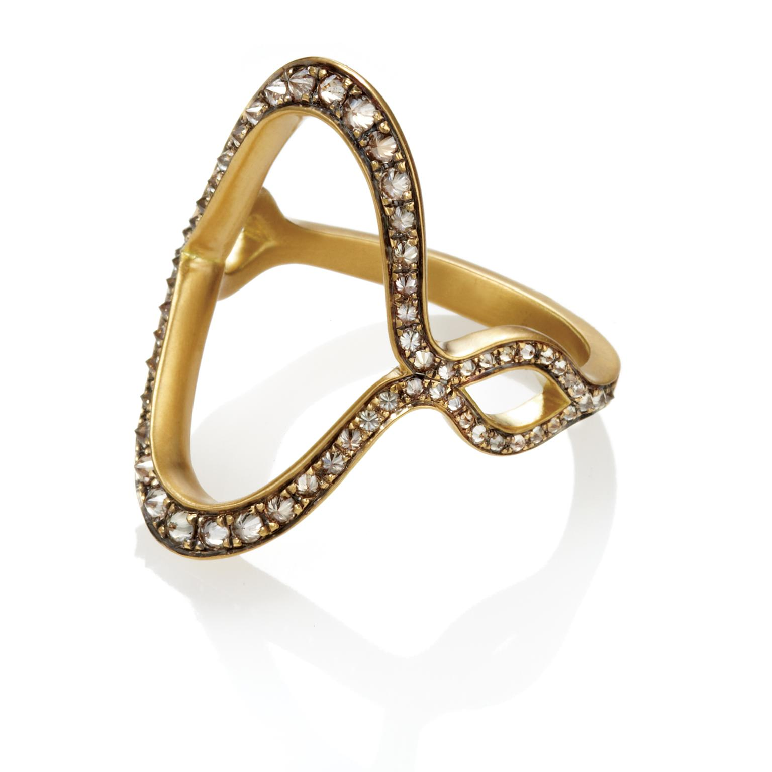 Anahita Jaws diamond ring