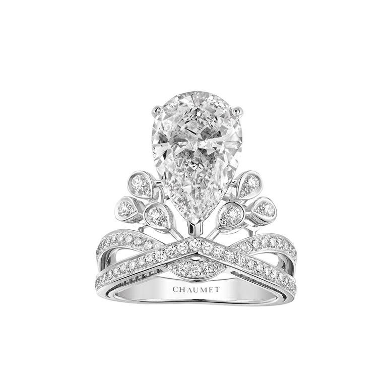 Josephine Aigrette Imperiale diamond engagement ring