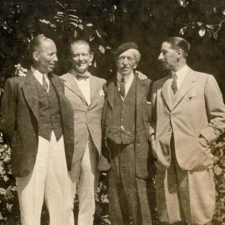 The Cartiers in 1920. From left to right: Pierre, Louis, Alfred (their father) and Jacques.