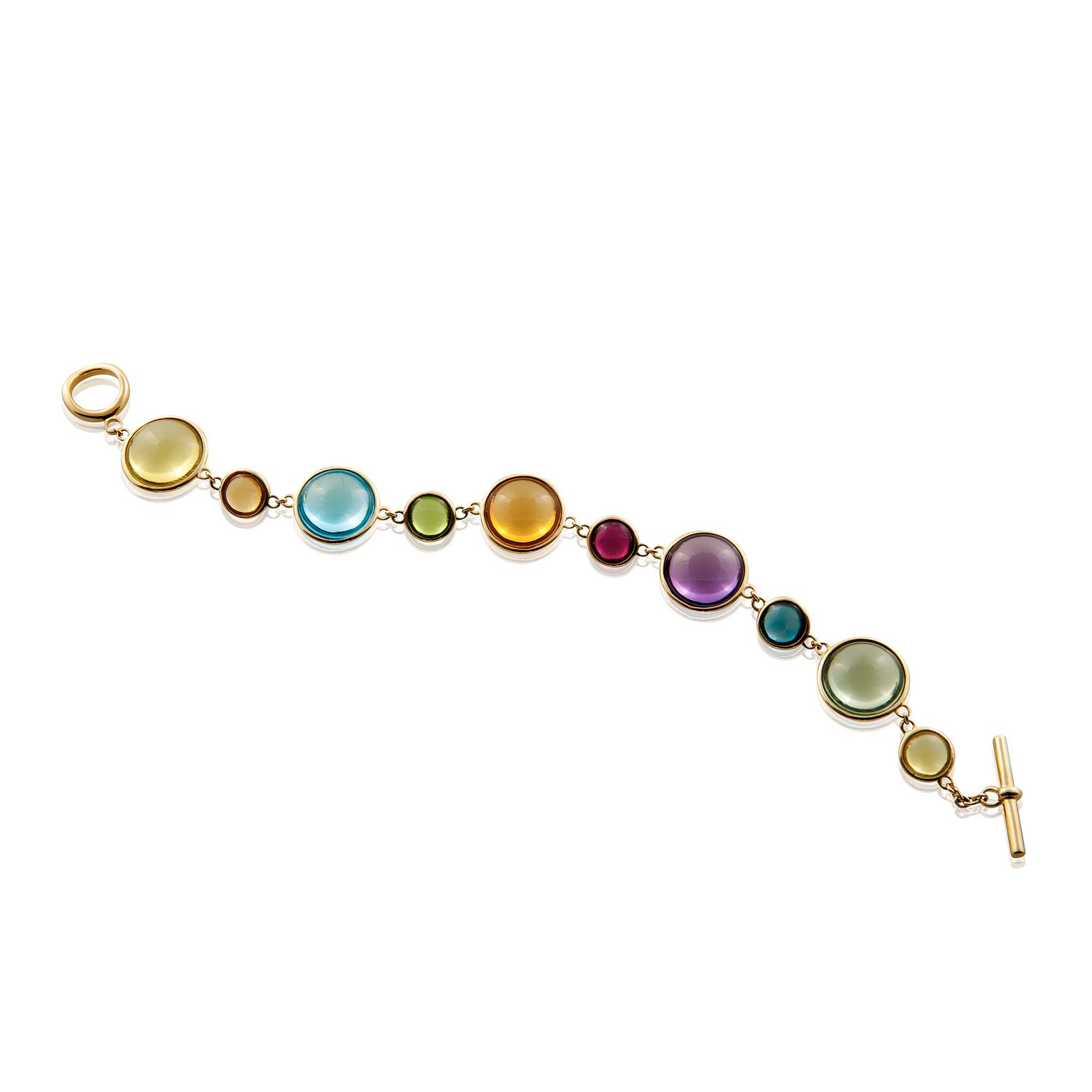 Goshwara multicoloured gemstone bracelet