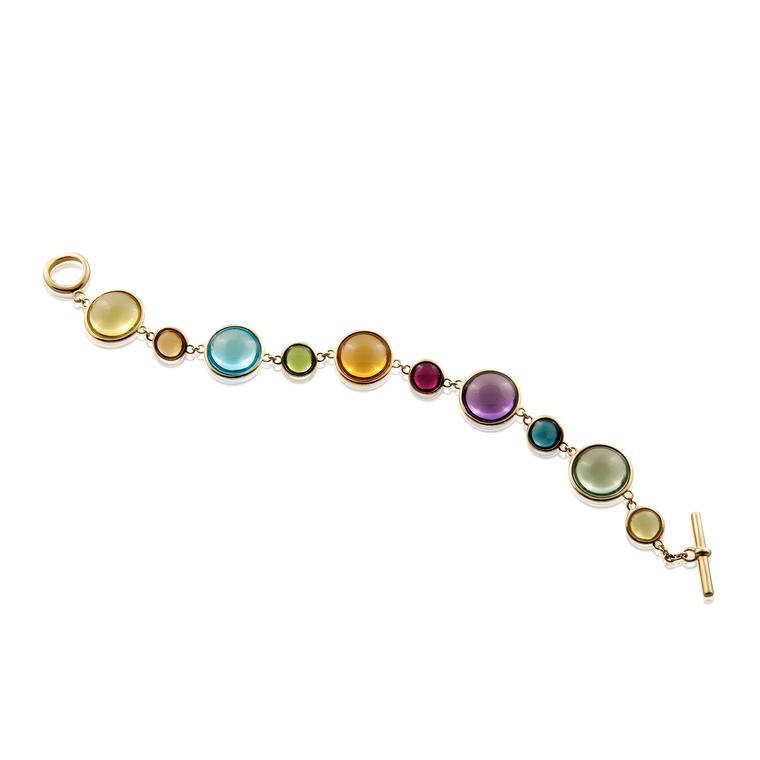Mischief Disc multicolour gemstone bracelet