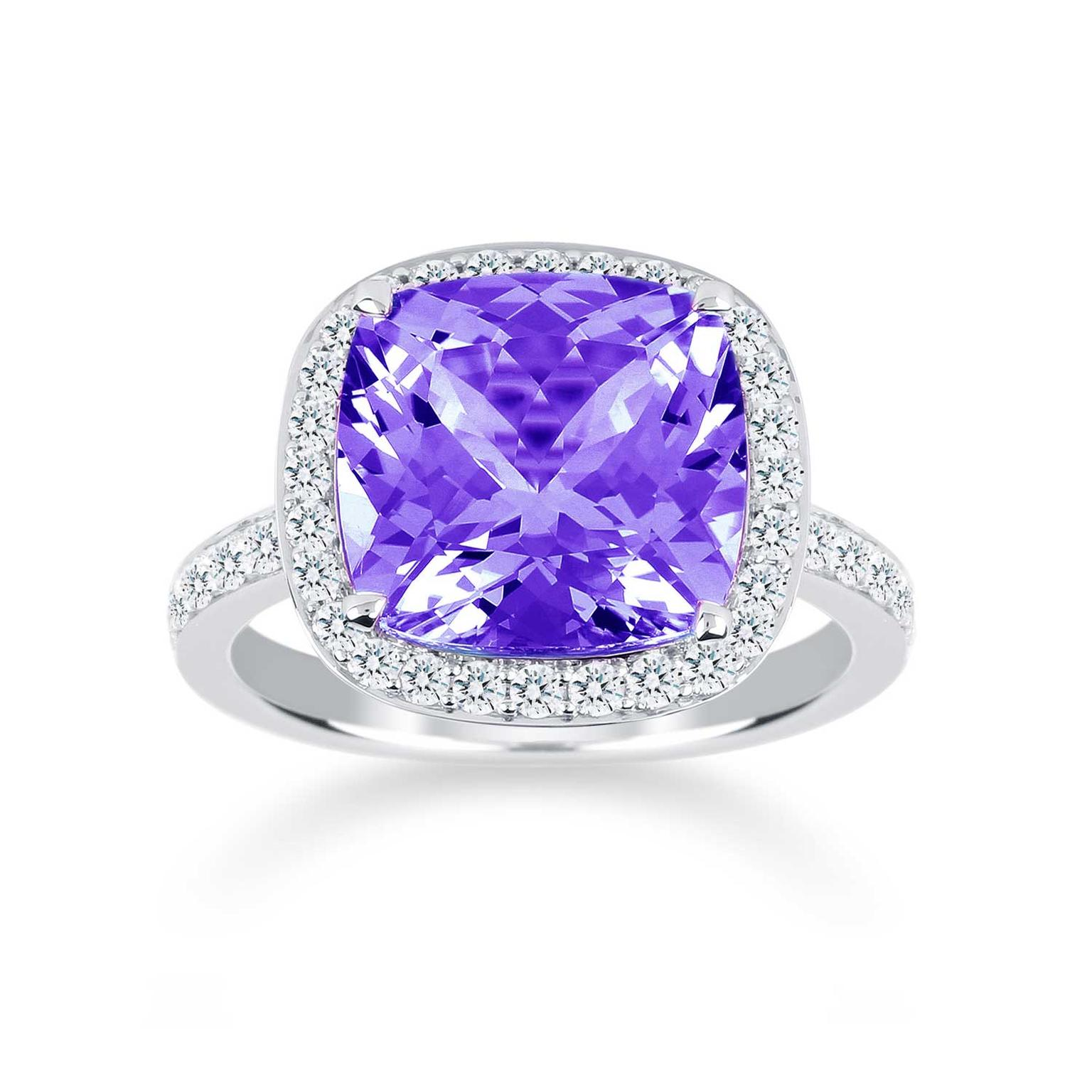 Mappin & Webb Prima amethyst engagement ring