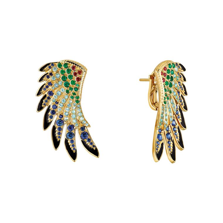 Lalique Perroquet collection earrings