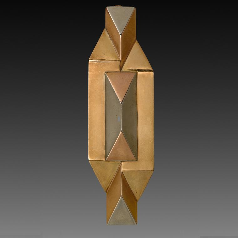 Gold Art Moderne brooch from the collection of Neil Lane