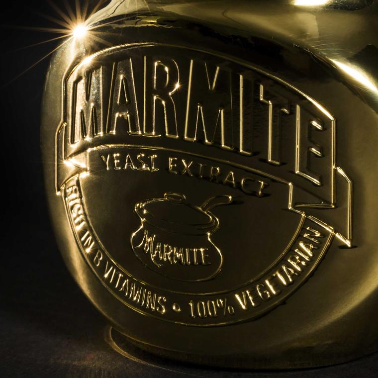 Close-up of Marmite Golden Jar