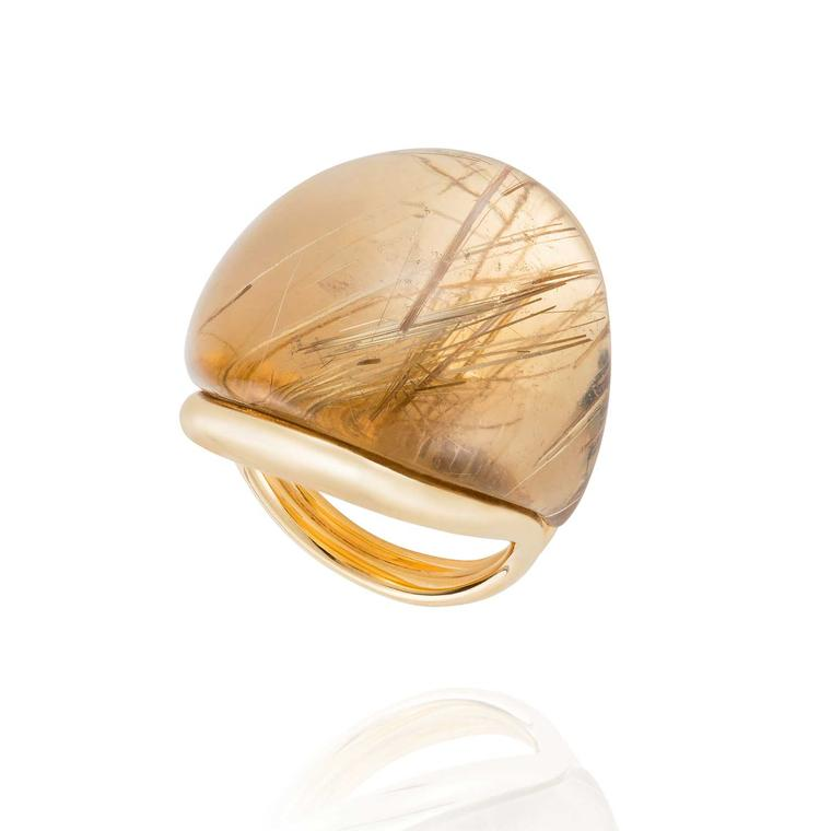 Fernando Jorge Parallel Rounded rutilated quartz ring