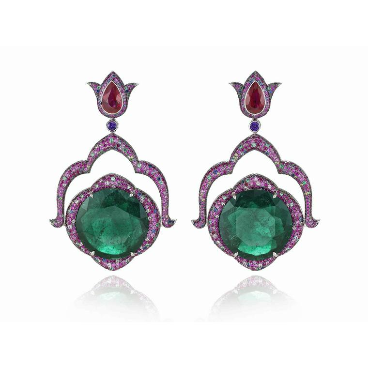 Chopard emerald earrings