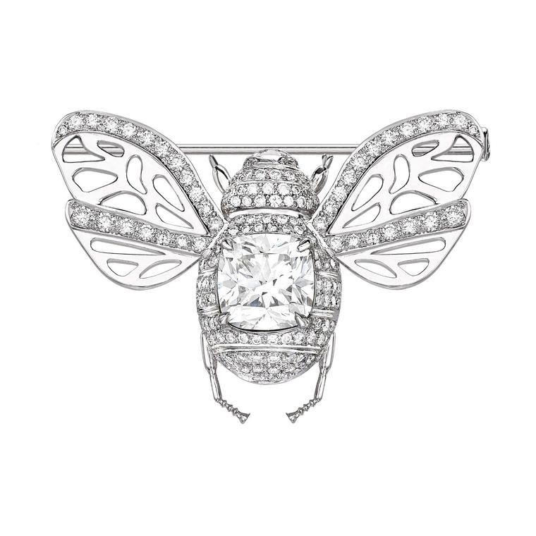 Theo Fennell Bee brooch with Forevermark Diamonds
