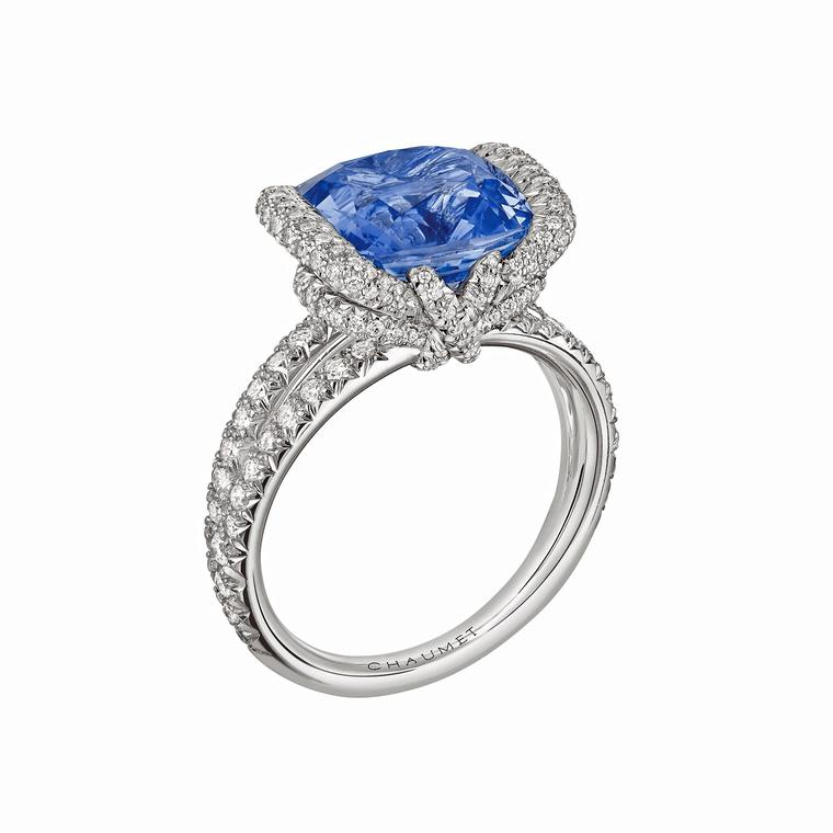Chaumet high jewellery Liens ring with a 5.78ct Ceylon sapphire