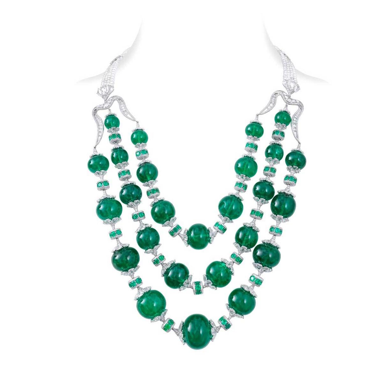 Nirav Modi emerald Maharani necklace