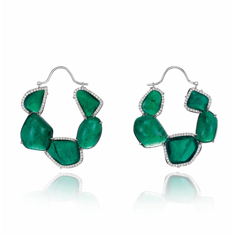 Chopard Red Carpet collection emeralds earrings