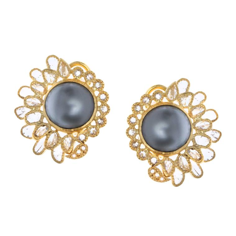 Coomi Tahitian pearl earrings