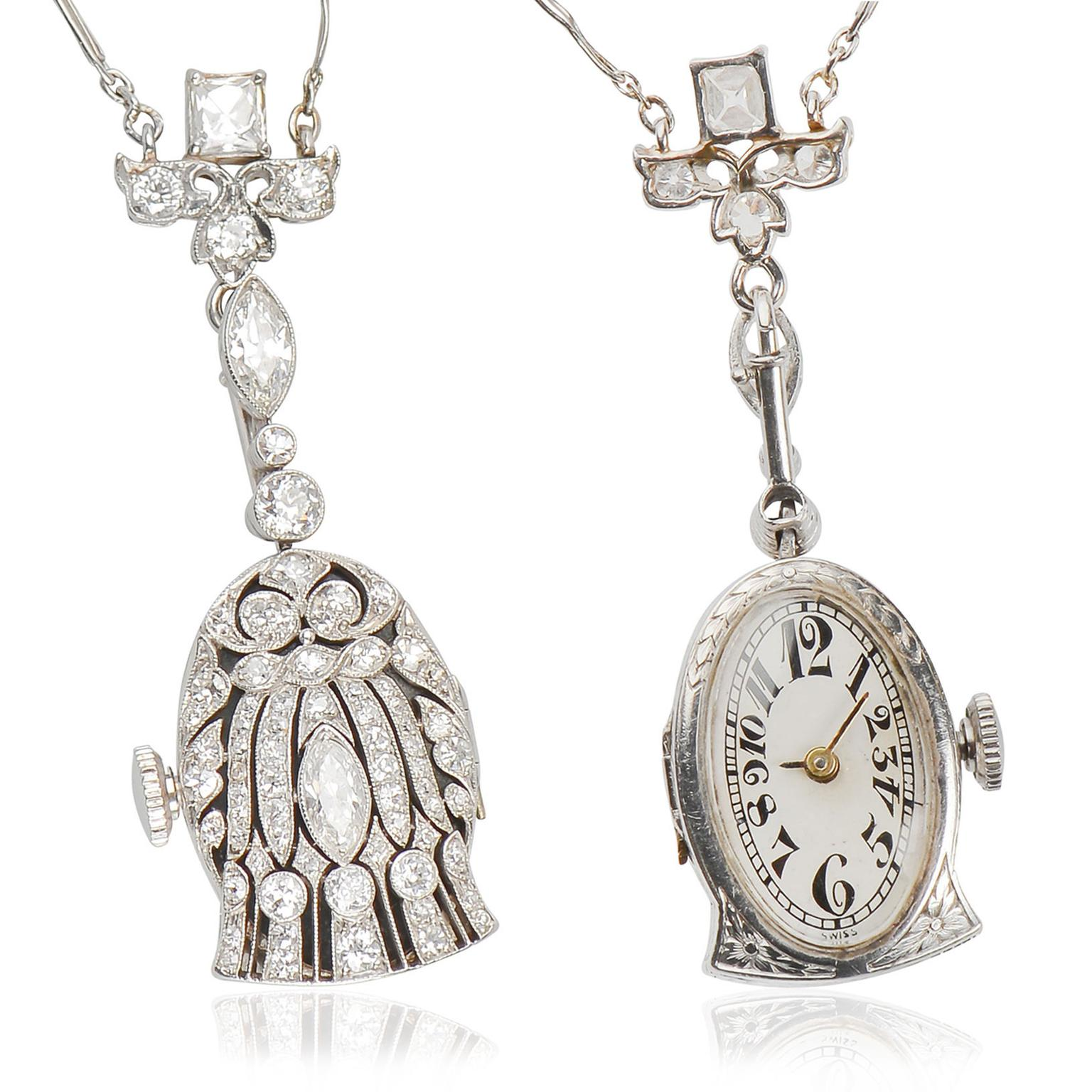 The Three Graces watch pendant