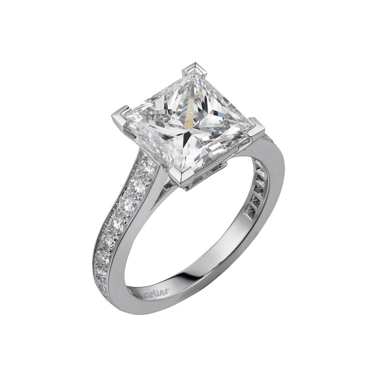 Cartier Solitaire 1895 square-cut engagement ring