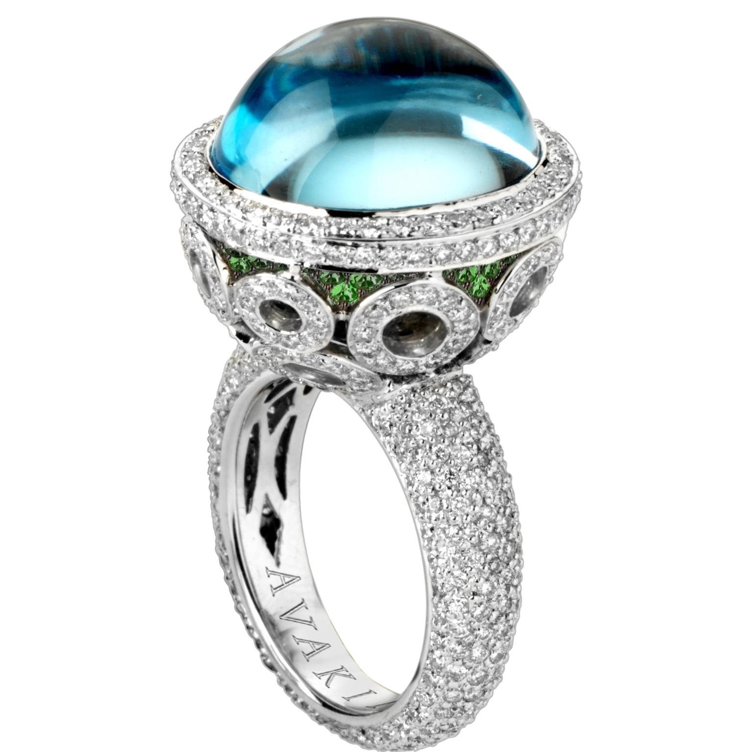 Avakian blue topaz Galaxy ring