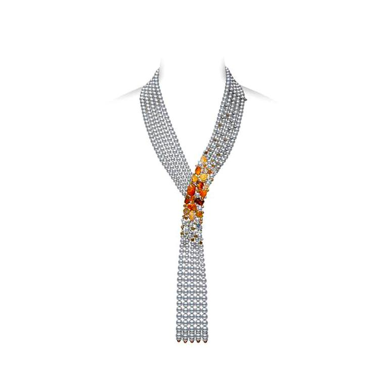 Mikimoto Passion Fire fire opals and diamonds necklace