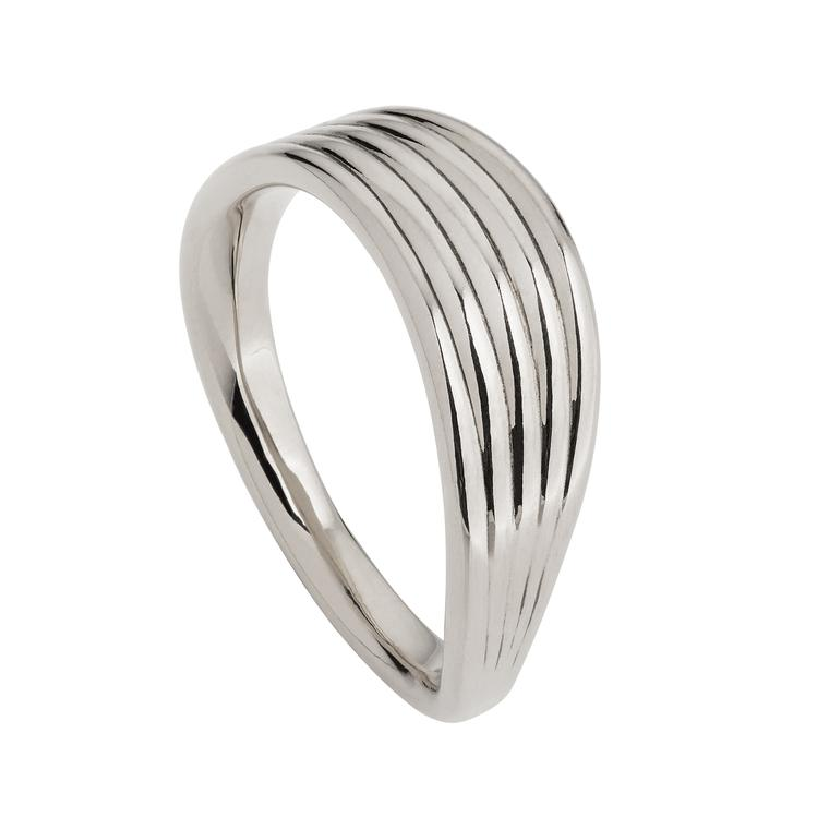Fernando Jorge Stream Lines white gold ring
