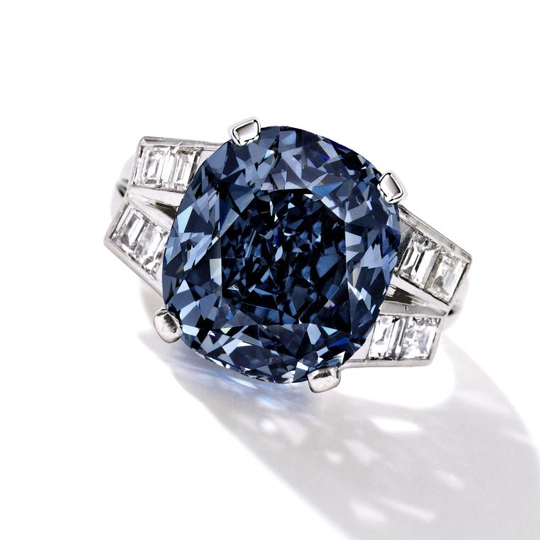 A trio of blue diamonds dominates spring auctions