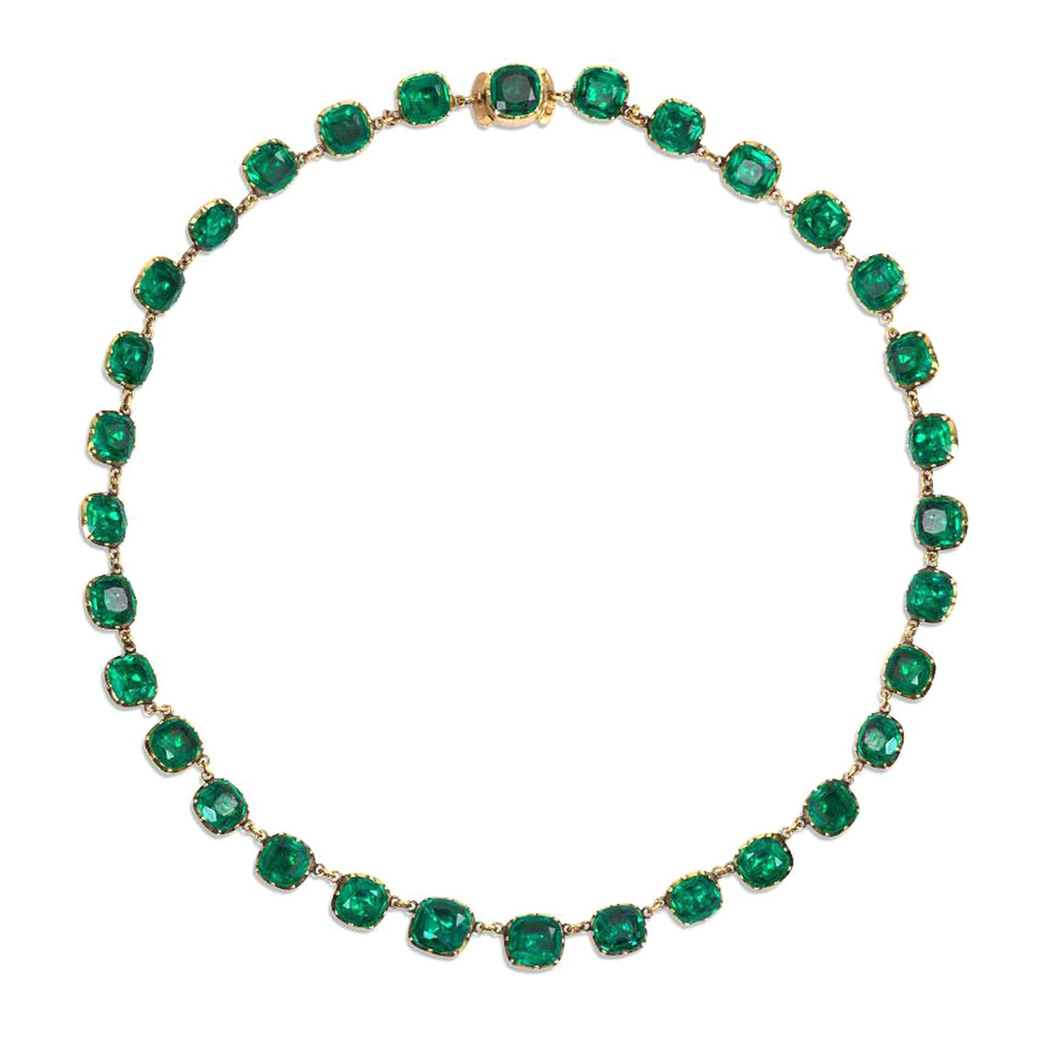 Kentshire emerald paste necklace