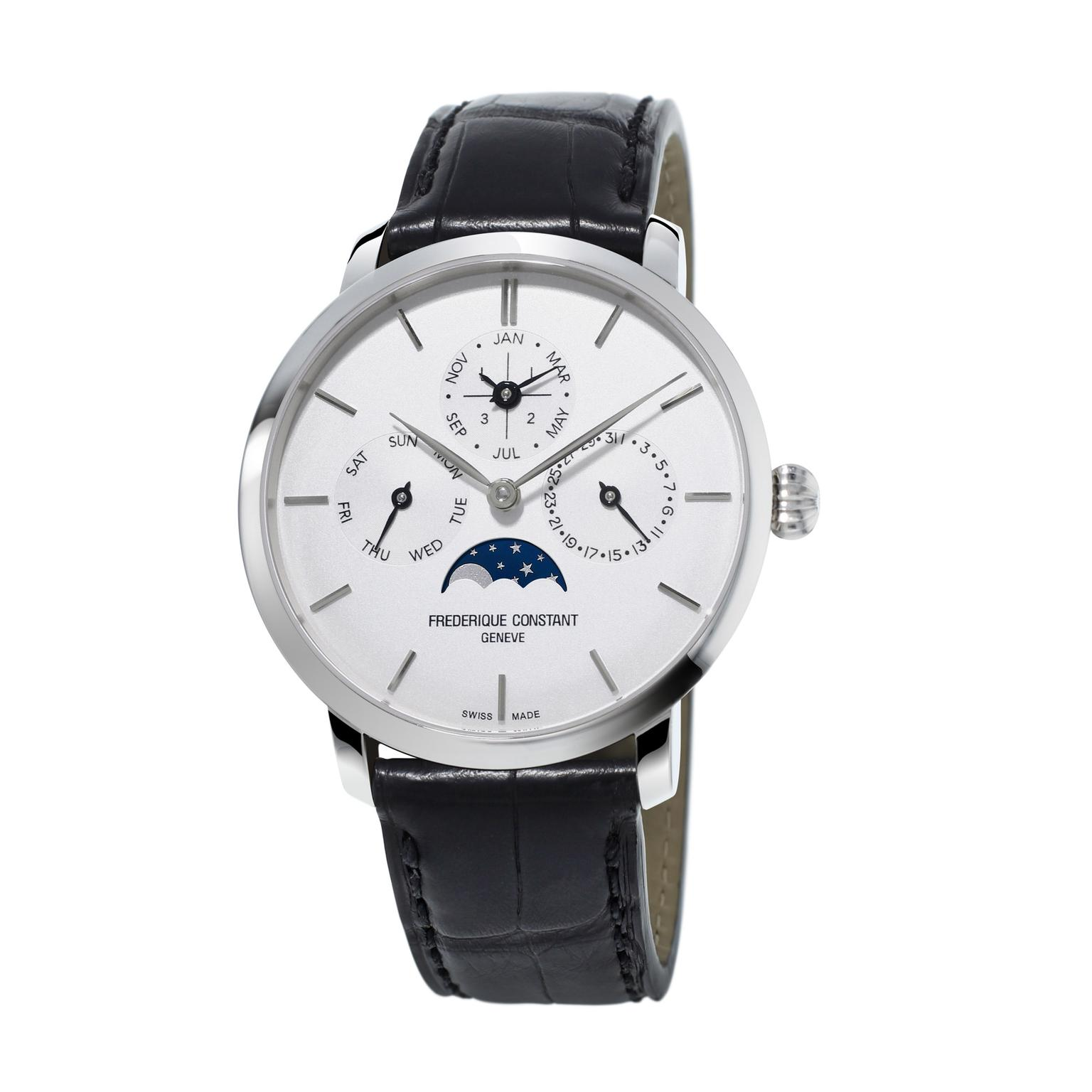Frederique Constant Perpetual Calendar stainless steel watch