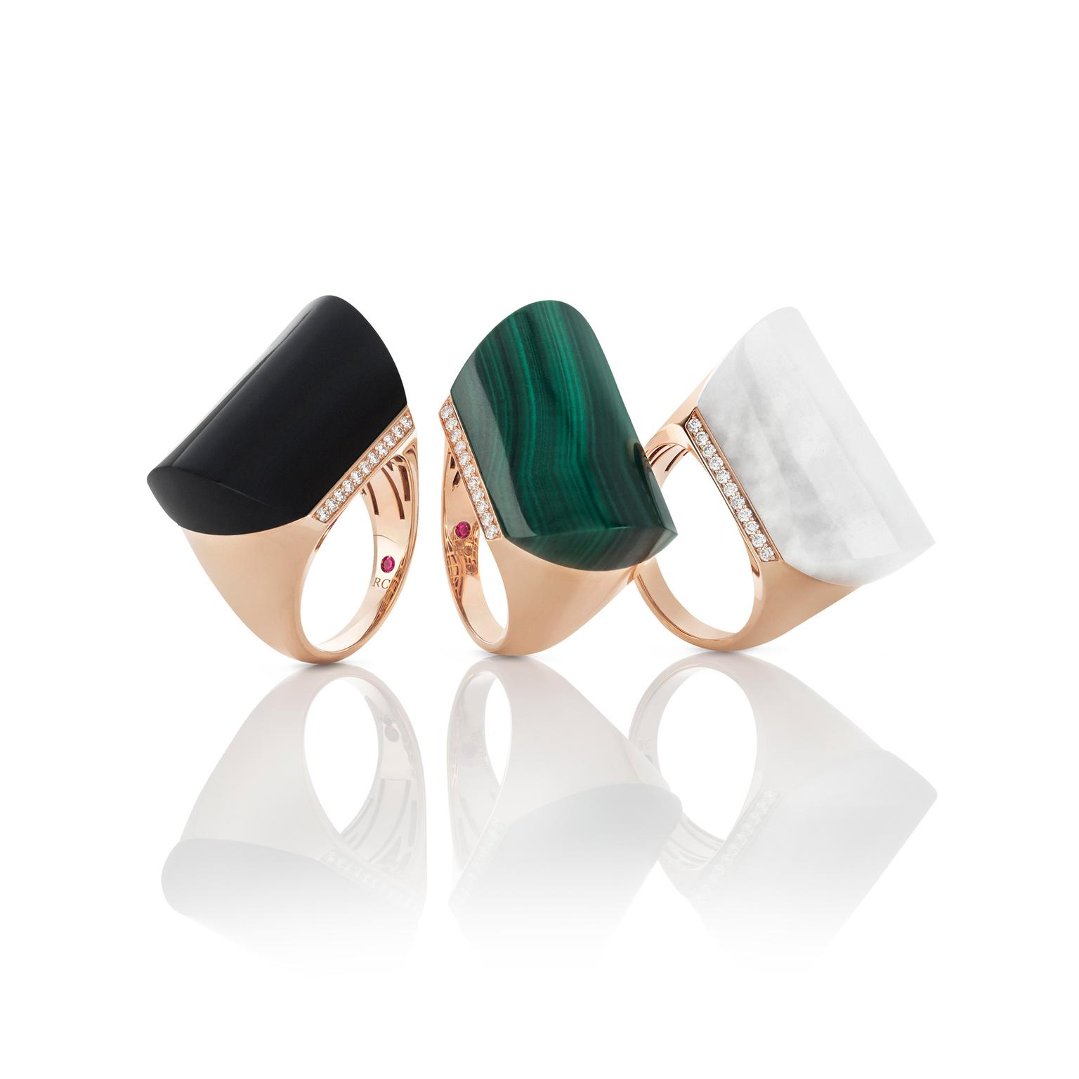 Roberto Coin malachite cocktail ring