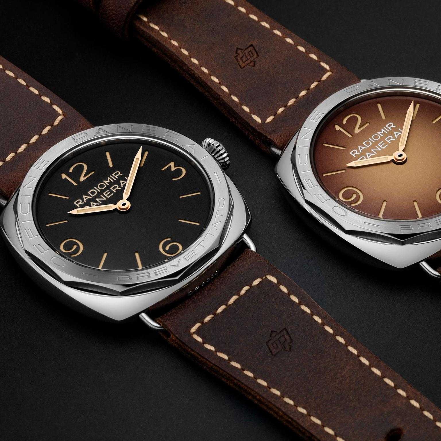 Panerai's two new 47mm Radiomir 3 Days Acciaio watches