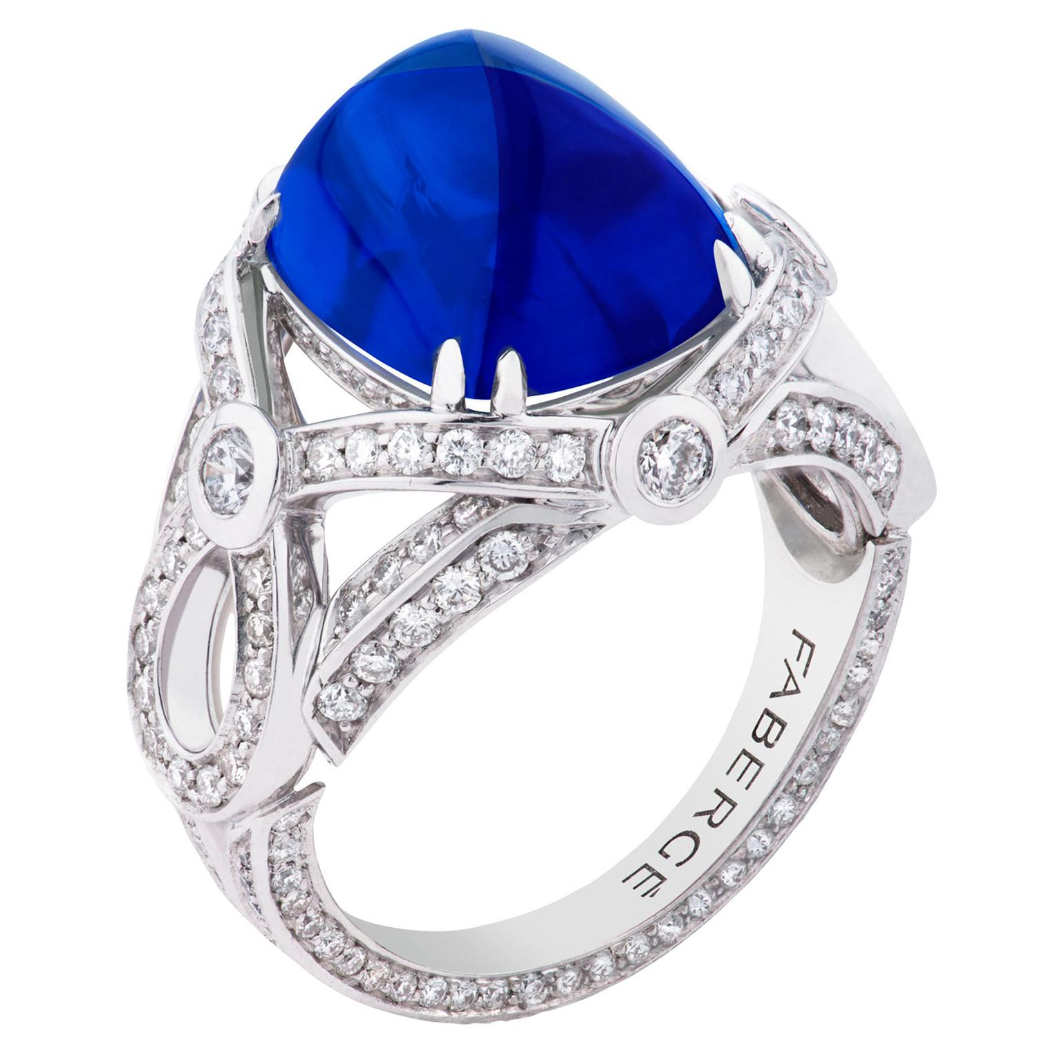 Faberg Devotion sapphire ring
