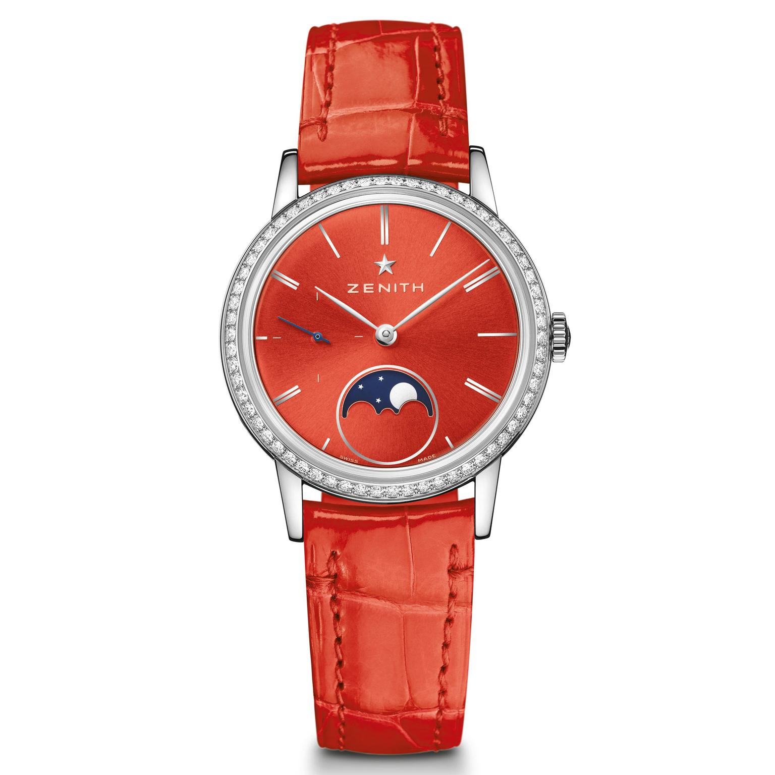 Zenith Elite Lady Moonphase red watch
