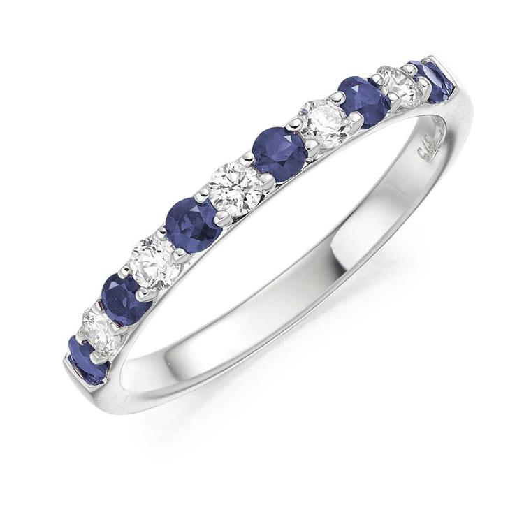 Swag Circle of Life sapphire and diamond eternity ring