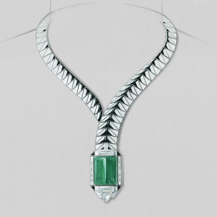 Cartier Opheis necklace front view
