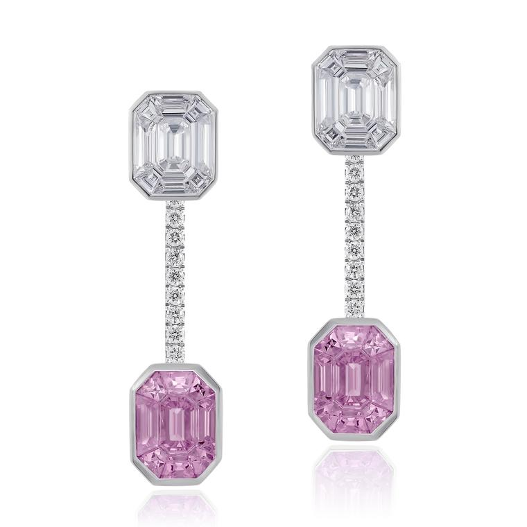Stenzhorn Muse Pantoni pink sapphire and diamondearrings