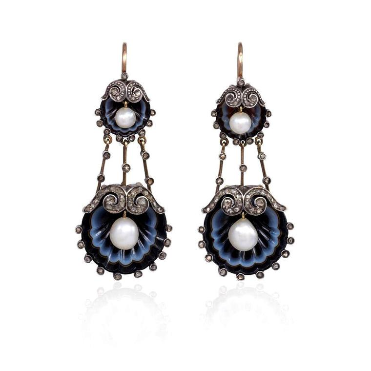 Kentshire antique agate earrings