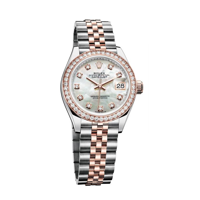 Rolex Lady Datejust 28mm watch in Everose gold and steel