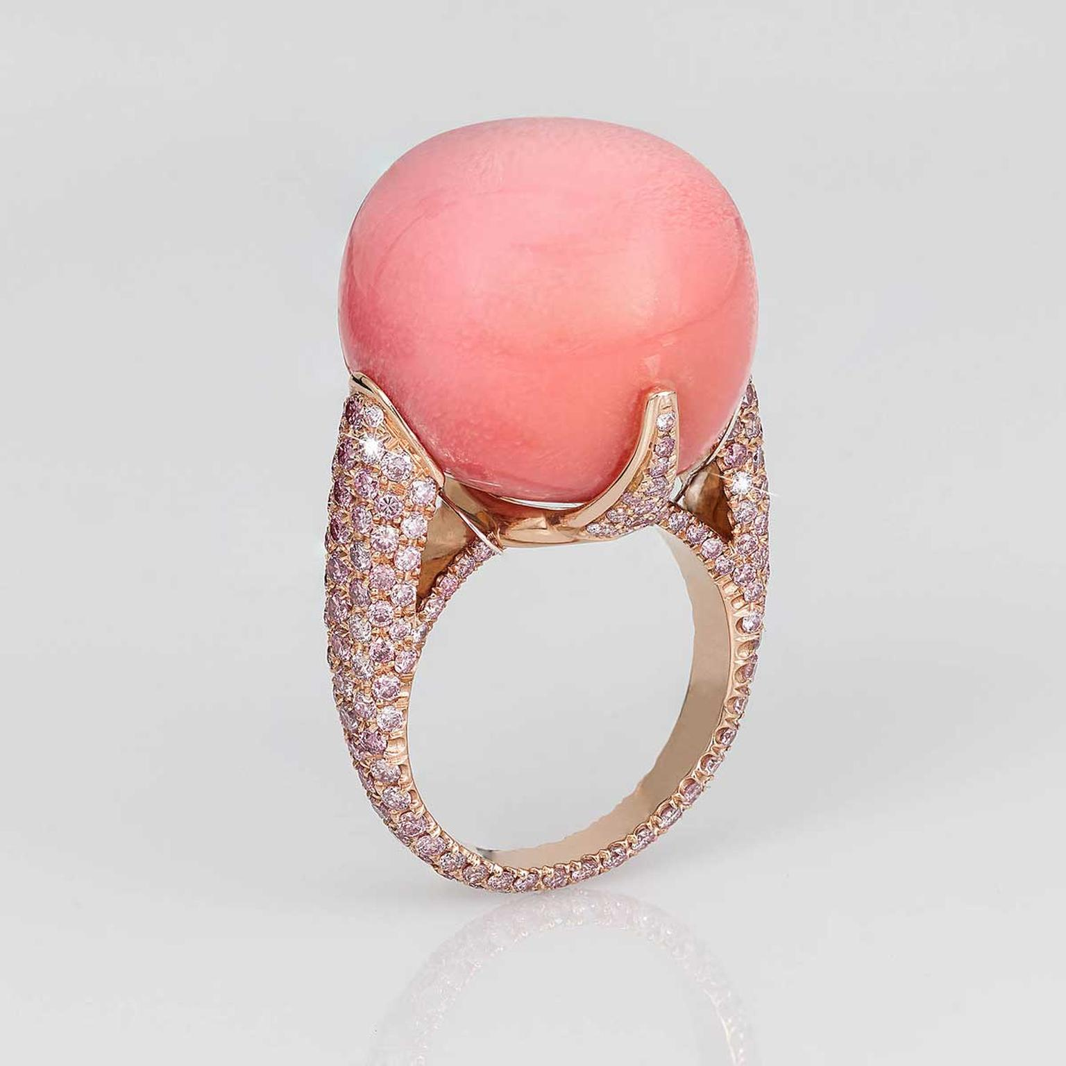 David Morris 44 carat conch pearl ring