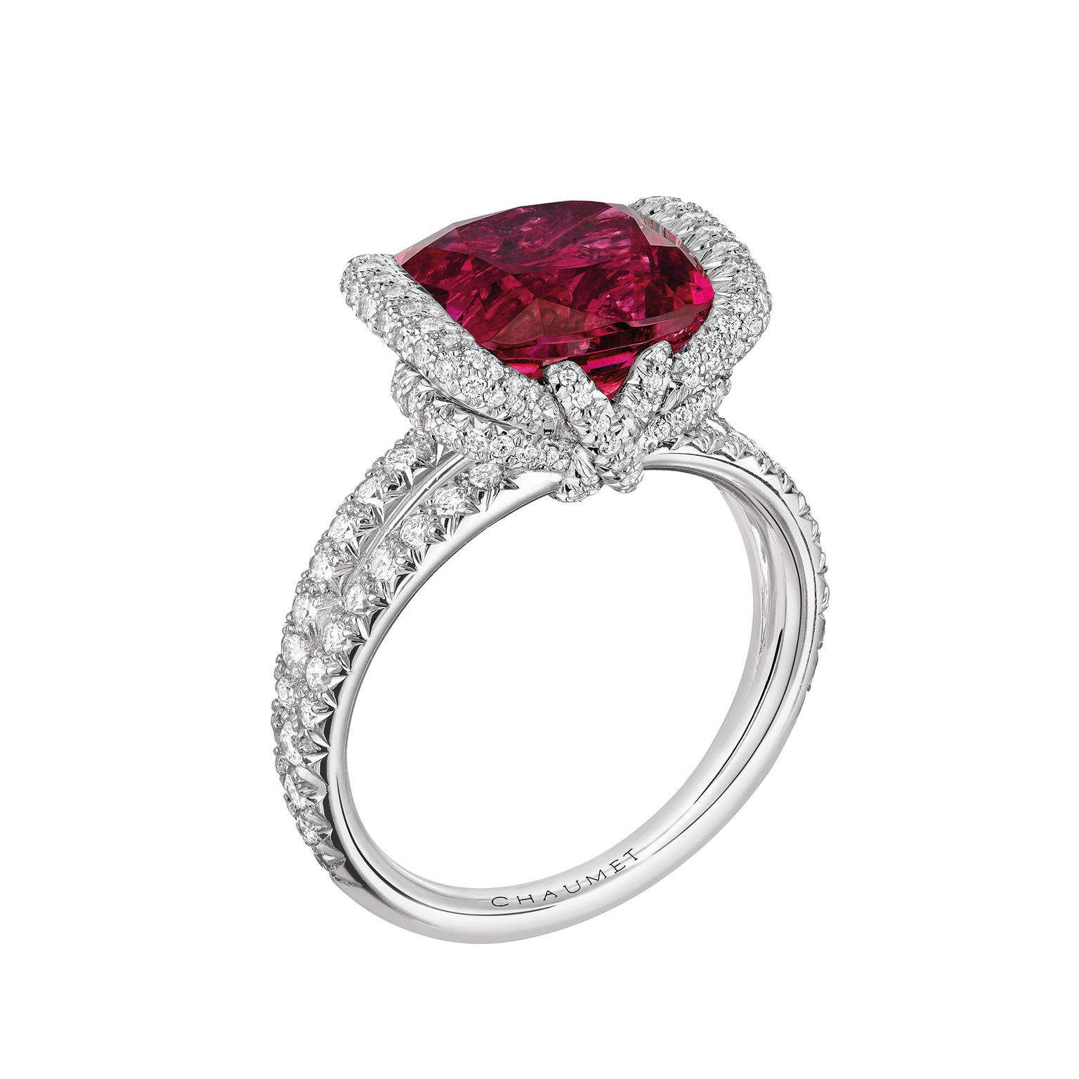 Chaumet Liens d'Amour red tourmaline ring