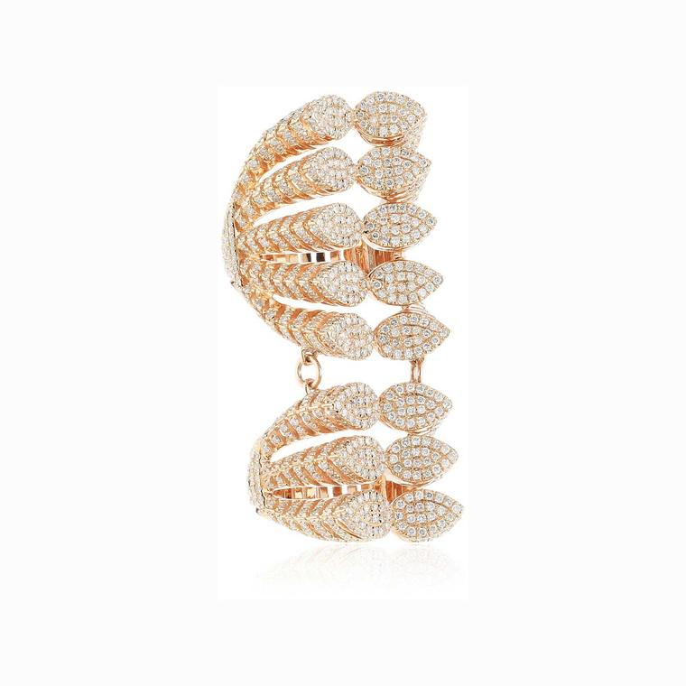 AS29 Spine 8 Branches diamond ring