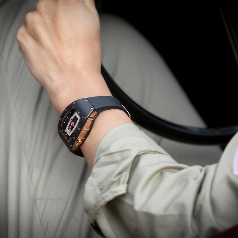 Richard Mille RM 07-01 ladies' watch worn at Rallye des Princesses, image courtesy of Didier Gourdon