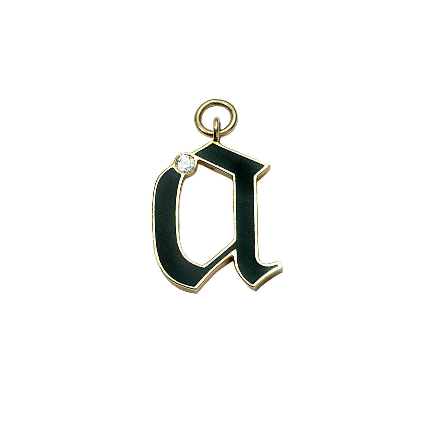 Diamond initial alphabet charm
