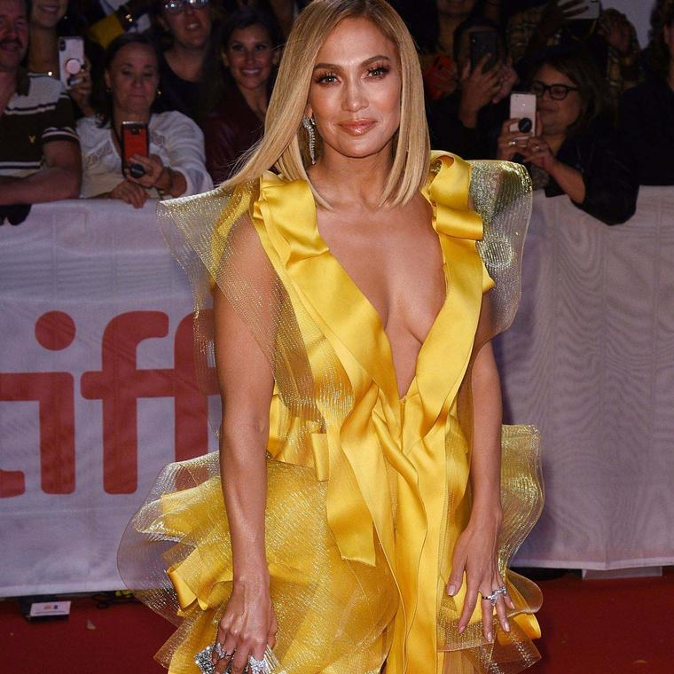 Jennifer Lopez at The Hustlers Premiere