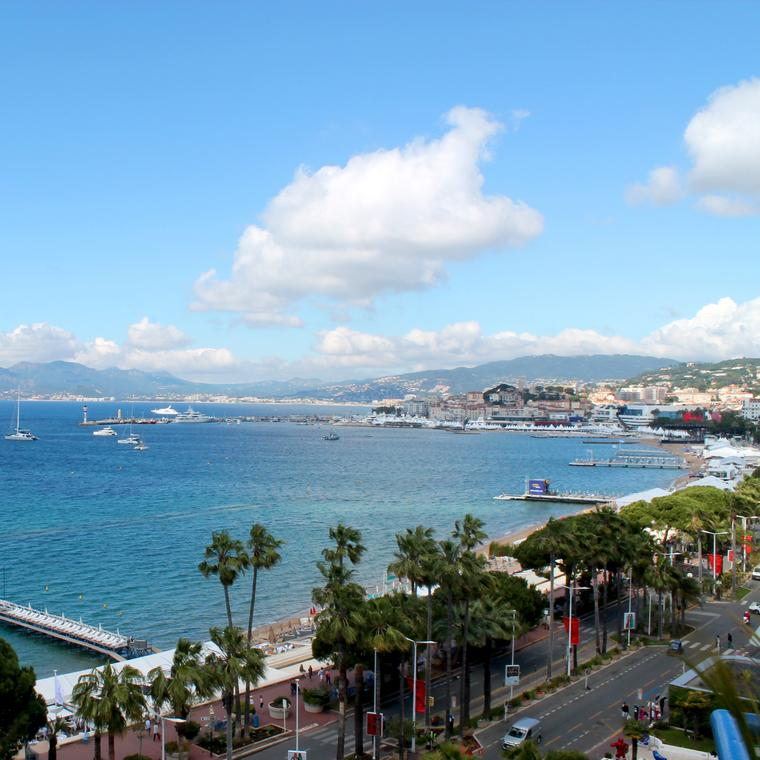 The French Riviera and La Croisette Cannes