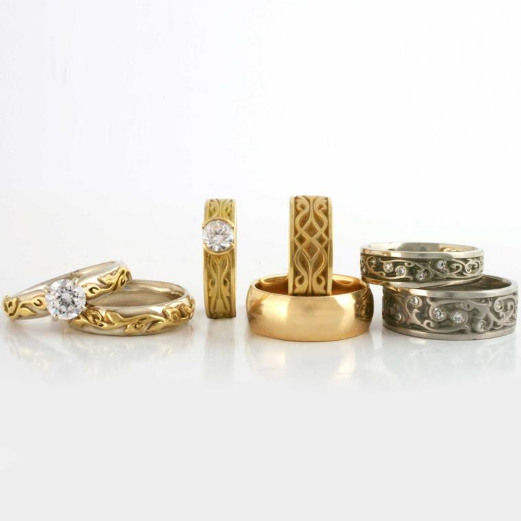 Reflective Images wedding rings