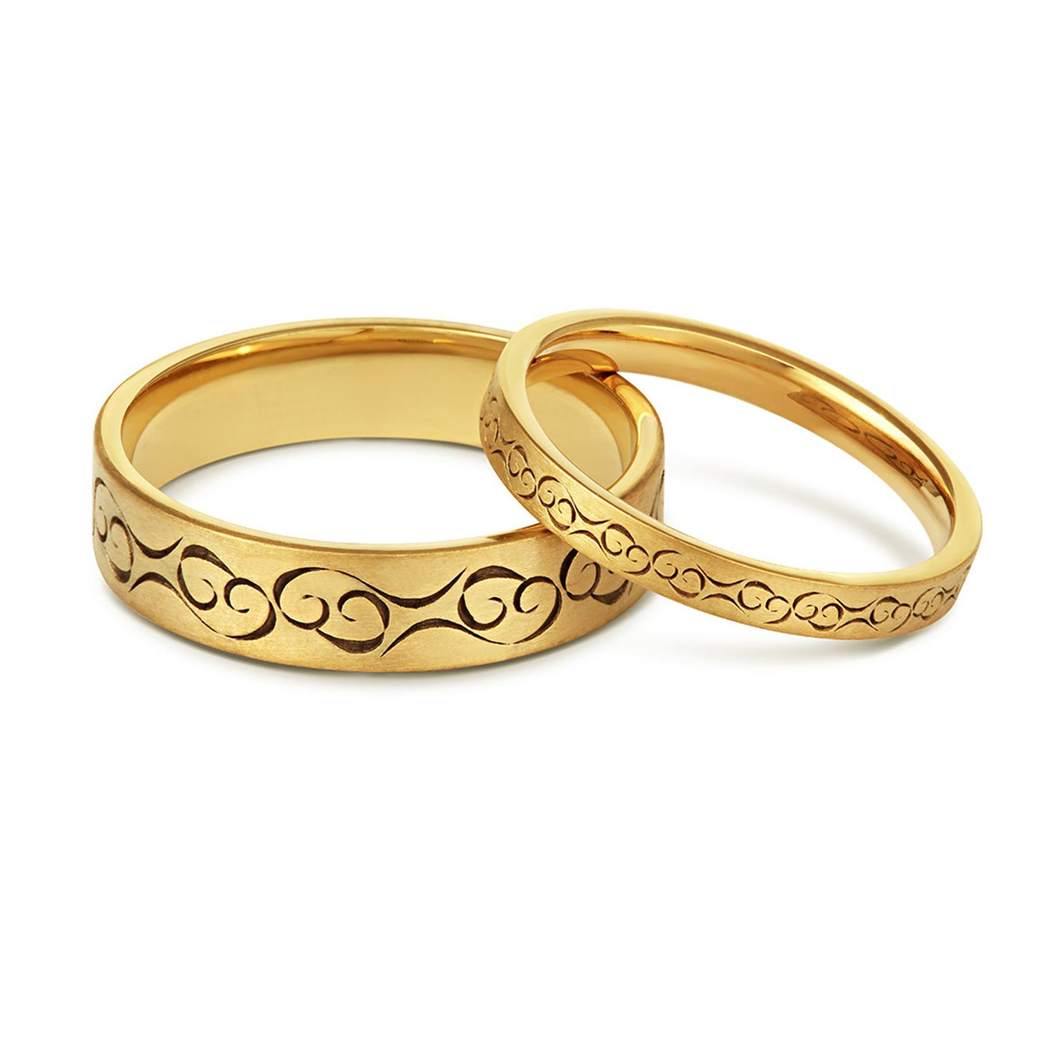 Cred Celtic Love Fairtrade gold wedding rings
