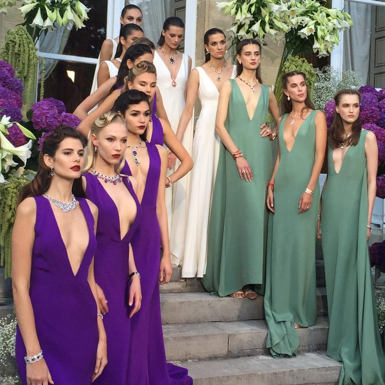 Bulgari catwalk show during Paris Couture Week