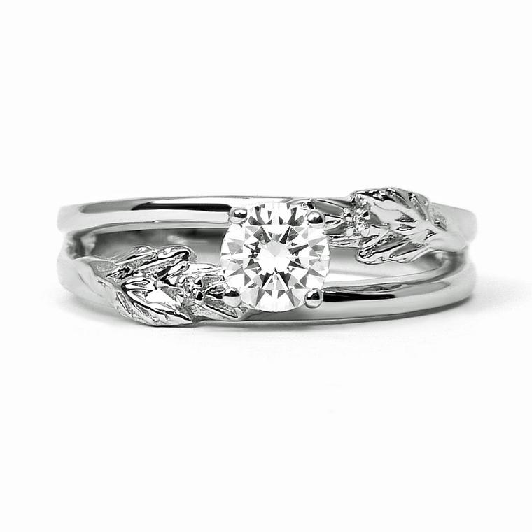 Arabel Lebrusan Royal Oak engagement ring in white Fairtrade gold