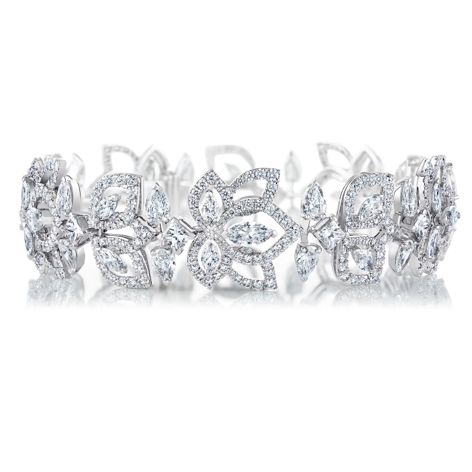 De Beers Flourishing Lotus high jewellery bracelet