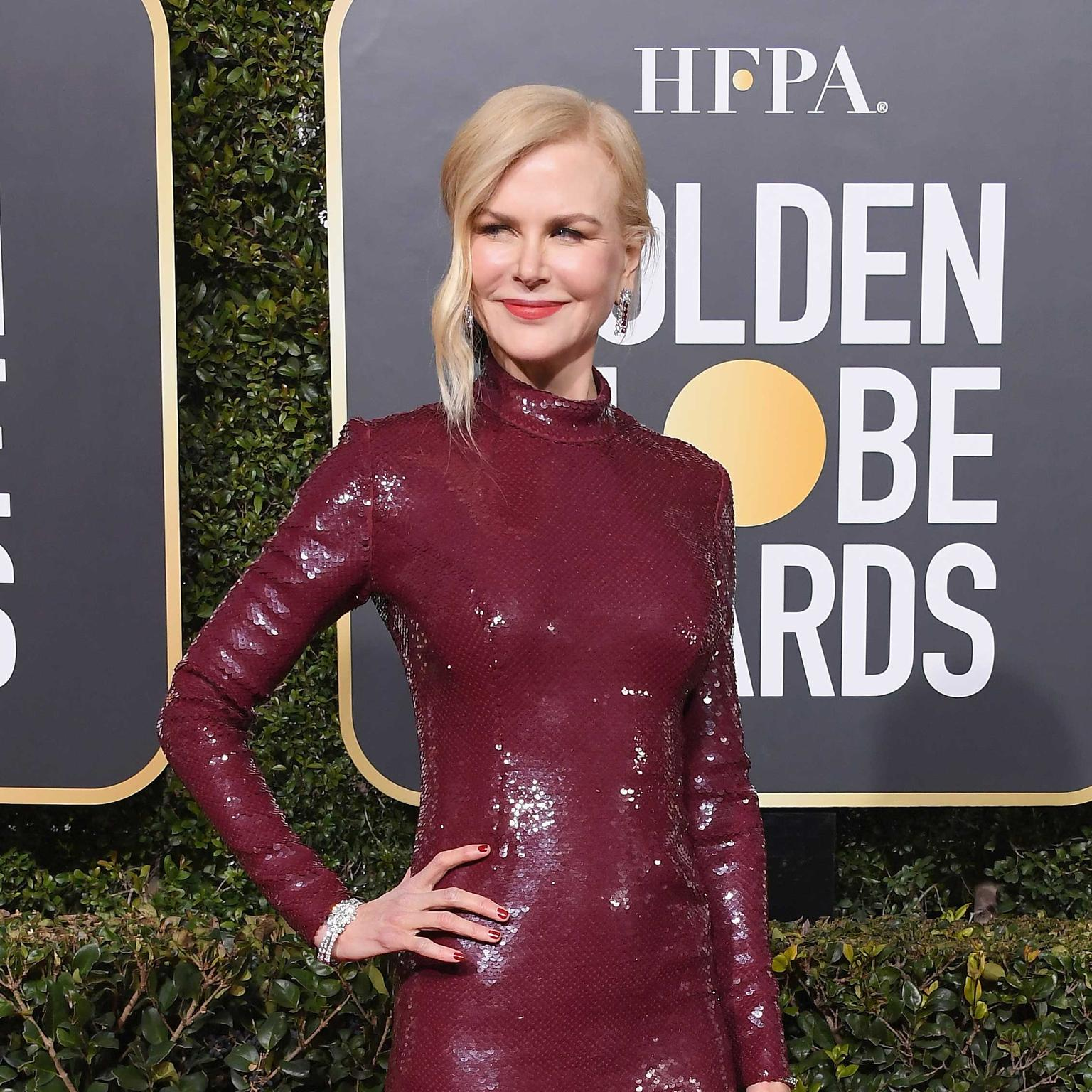 NIcole Kidman Golden Globes Harry Winston jewels